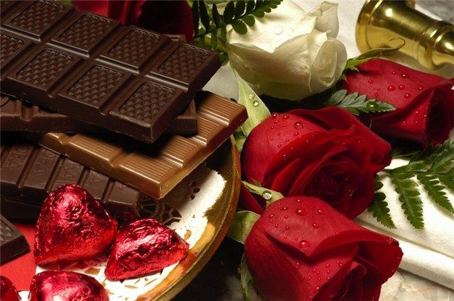 Анимашка - цветы и шоколад